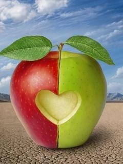 Apple Heart Mobile Wallpaper