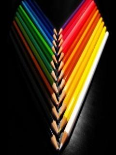 Colorful Pencils Mobile Wallpaper