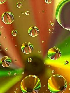 3D Drops Mobile Wallpaper