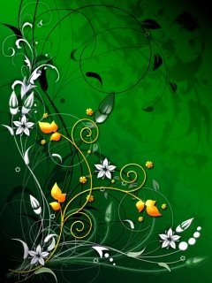 Flower N Green Mobile Wallpaper