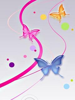 Color Butterflies Mobile Wallpaper