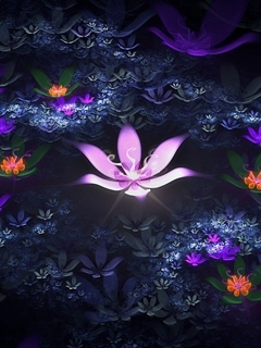 3D Flower Mobile Wallpaper