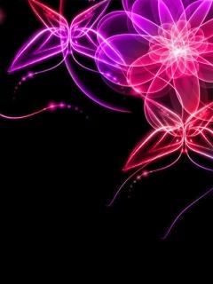Digital Flower Mobile Wallpaper