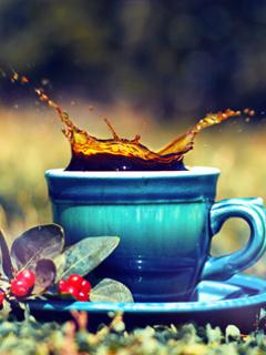 Splash Tea Mobile Wallpaper