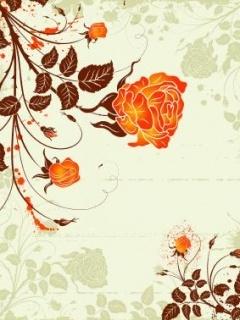 Orange Rose Mobile Wallpaper