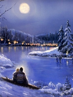 Winter Love Mobile Wallpaper