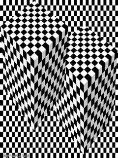 Cubes Illusion Mobile Wallpaper