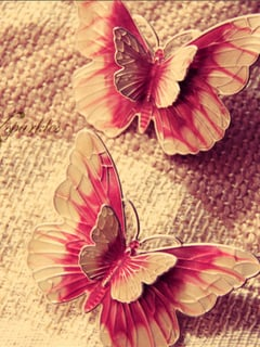 Two Butterfly Mobile Wallpaper