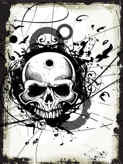 Skull Tribal Mobile Wallpaper