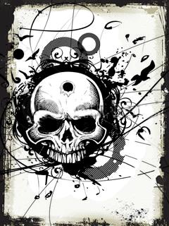 Skull Tribal Mobile Wallpaper