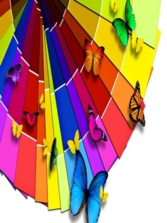 Rainbow Paper Mobile Wallpaper