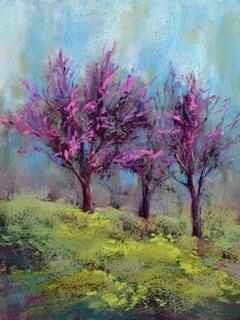 Purple Tree Mobile Wallpaper