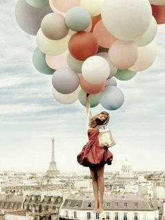 Balloons In Paris Mobile Wallpaper