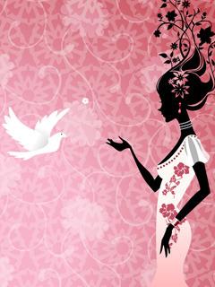Flower Girl Mobile Wallpaper
