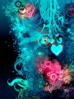 Blue Love Mobile Wallpaper