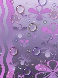 Drop N Flower Mobile Wallpaper