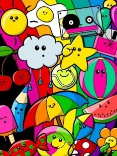 Coloured Mobile Wallpaper