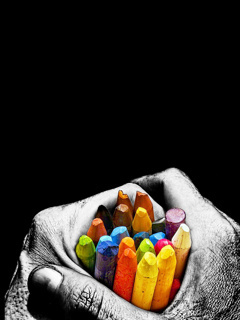 Crayons Mobile Wallpaper