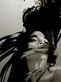 Abstract Girl Mobile Wallpaper