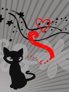 Black Cat Mobile Wallpaper