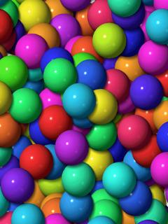 Colorful Balls Mobile Wallpaper