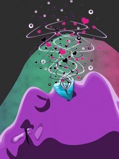 Face Violet Mobile Wallpaper