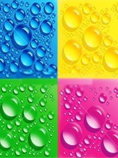 Colors Drops Mobile Wallpaper