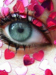 Eye Hearts Mobile Wallpaper
