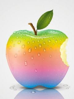 Rainbow Apple Mobile Wallpaper