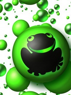 Frog Bubble Mobile Wallpaper