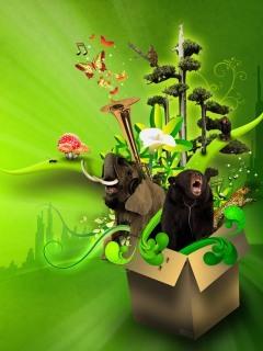 Green N Box Mobile Wallpaper