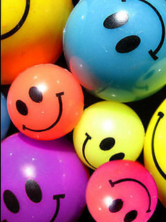 Colorful Smilies Mobile Wallpaper
