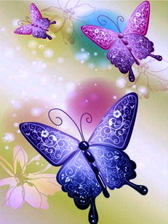 Neon Butterflies Mobile Wallpaper