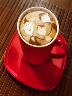 Coffee Family Mobile Wallpaper