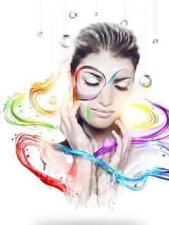Color Girl Mobile Wallpaper