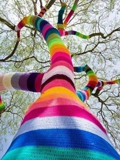 Rainbow Tree Mobile Wallpaper