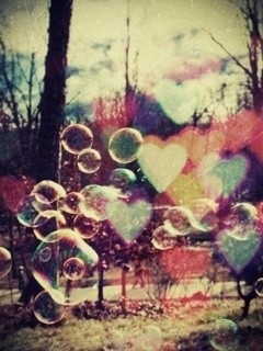 Bubbles Heart Mobile Wallpaper