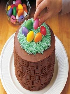 Easter Basket Cake Mobile Wallpaper