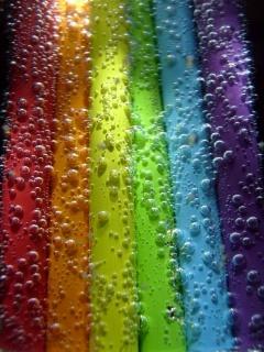 Rainbow Bubbles Mobile Wallpaper