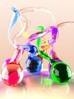 Colors Glass Mobile Wallpaper