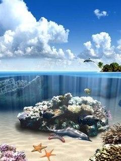 3D Ocean Mobile Wallpaper