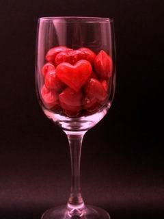 Heart On Glass Mobile Wallpaper