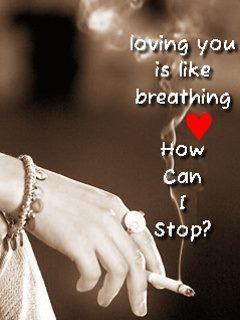 Loving U Like Breathing Mobile Wallpaper