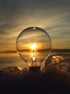 Sun Bulb Mobile Wallpaper