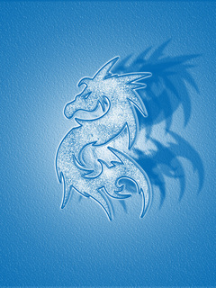 Dragon Blue Mobile Wallpaper