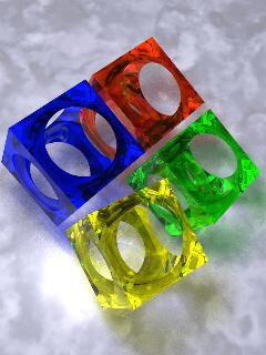 Cubes Mobile Wallpaper