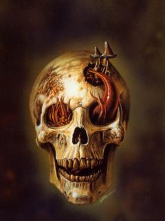 Smiley Skull Mobile Wallpaper