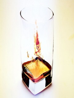 Fire Glass Mobile Wallpaper