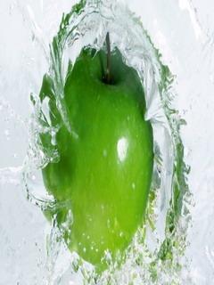 Green Little Apple Mobile Wallpaper