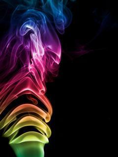Neon Smoke Mobile Wallpaper